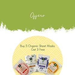 Buy 5 Organic Sheet Masks, Get 3 Free