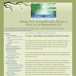 L'Eau : méridiens du Rein et de la Vessie - Shiatsu Yin, Aromathérapie, Moxas, à Paris 13 è et Bazancourt (51)