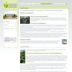 Aromathérapie : définition et histoire de l'aromathérapie