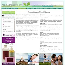 And Essential Oil Mood Blends