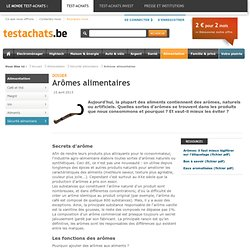 Arômes alimentaires