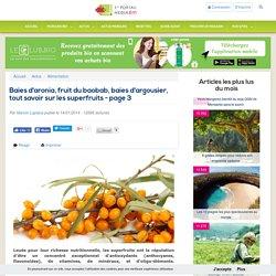 Baies d'aronia, fruit du baobab, baies d'argousier, tout savoir sur les superfruits - page 3