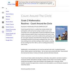 Count Around The Circle: Grade 2 Mathematics