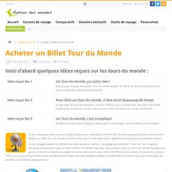 Around the Worlds | Billets Tour du Monde