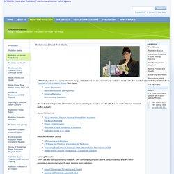ARPANSA - Radiation and Health Fact Sheets