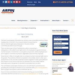 Arpin Begins Composting