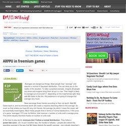ARPPU in freemium games - Gamesbrief