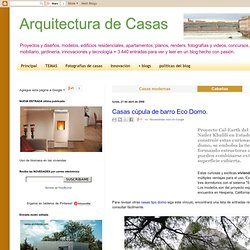 Casas cúpula de barro - Eco Domo