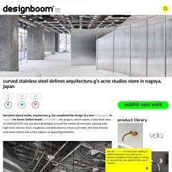 arquitectura-g designs acne studios store in nagoya, japan