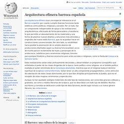 Arquitectura efímera barroca española