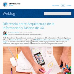 La diferencia entre Arquitectura de la Información y Diseño de UX