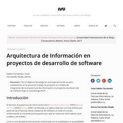 Arquitectura de Información en proyectos de desarrollo de software