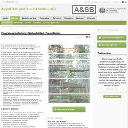 Másters » Posgrado Arquitectura y Sostenibilidad » Presentación
