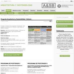 Másters » Posgrado Arquitectura y Sostenibilidad » Síntesis
