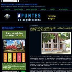 ARQUITECTURA SOSTENIBLE EN LA SELVA CASA CIRCULAR EN SATIPO - Arq. Tania Cerron O.