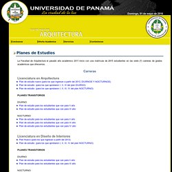 Facultad de Arquitectura - Universidad de Panamá