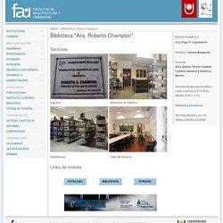 Biblioteca Facultad de Arquitectura y Urbanismo - UNNE