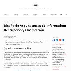 Diseño de Arquitecturas de Información: Descripción y Clasificación