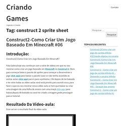 Arquivos construct 2 sprite sheet - Criando Games
