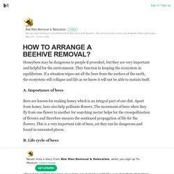 HOW TO ARRANGE A BEEHIVE REMOVAL?