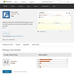 Arrange – Windows Apps on Microsoft Store