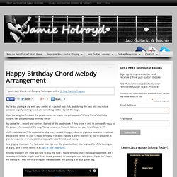 Happy Birthday Chord Melody Arrangement