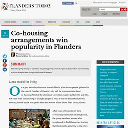 Co-housing arrangements win popularity in Flanders