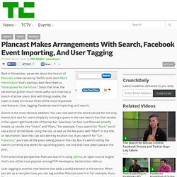 Plancast Makes Arrangements With Search, Facebook Event Importin