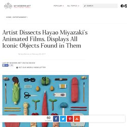 Artist Arranges Tiny Sculptures into Hayao Miyazaki Movie Posters