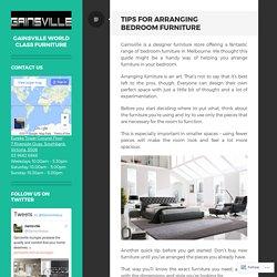Tips for Arranging Bedroom Furniture