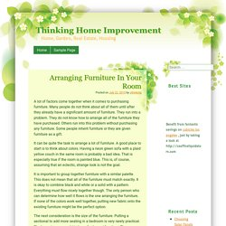 Arranging Furniture In Your Room » Thinking Home Improvement