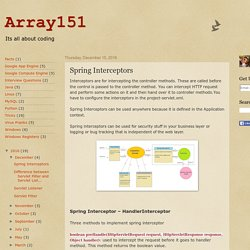 Array151: Spring Interceptors