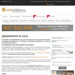 ARRENDAMIENTO DE LOCAL - Mundojuridico.info