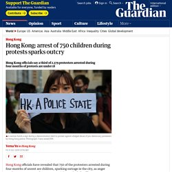 Hong Kong: arrest of 750 children during protests sparks outcry