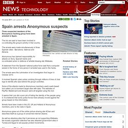 Spain arrests Anonymous suspects