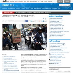 Arrests over Wall Street protest
