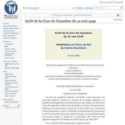 Arrêt de la Cour de Cassation du 31 mai 1949
