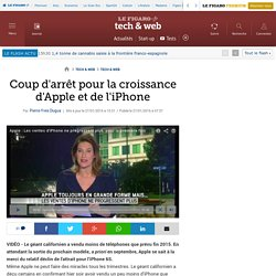 Coup d'arrêt pour la croissance d'Apple et de l'iPhone