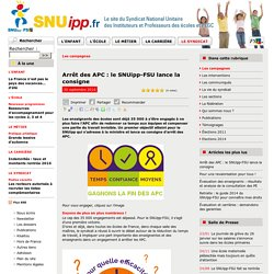Arrêt des APC : le SNUipp-FSU lance la consigne