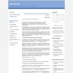 Arrêt de travail et formation : Droit Social