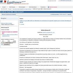 Arrêté du 14 juin 2006 - Article Annexe III
