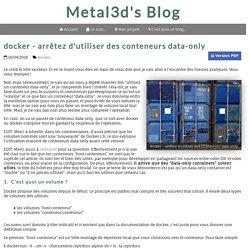 docker - arrêtez d'utiliser des conteneurs data-only