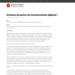 Arrêtons de parler de transformation digitale !