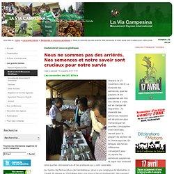 La Via Campésina Mouvement International Paysan