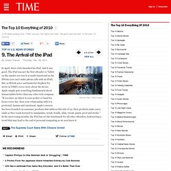 The Arrival of the iPad - The Top 10 Everything of 2010
