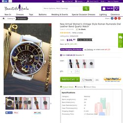 New Arrival Women's Vintage Style Roman Numerals Dial Leather Band Quartz Watch - Beautifulhalo.com