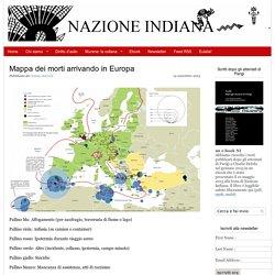 Mappa dei morti arrivando in Europa - Nazione Indiana
