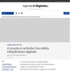 A scuola è arrivata l'ora della cittadinanza digitale