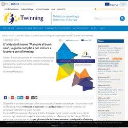 """E' arrivato il nuovo """"Manuale al buon uso"""", la guida completa per iniziare a lavorare con eTwinning"""
