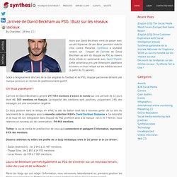 L'arrivée de David Beckham au PSG : Buzz sur les réseaux sociaux